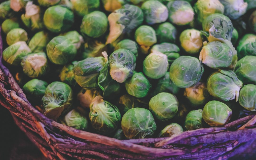 basket of brussel sprouts - gut healing foods
